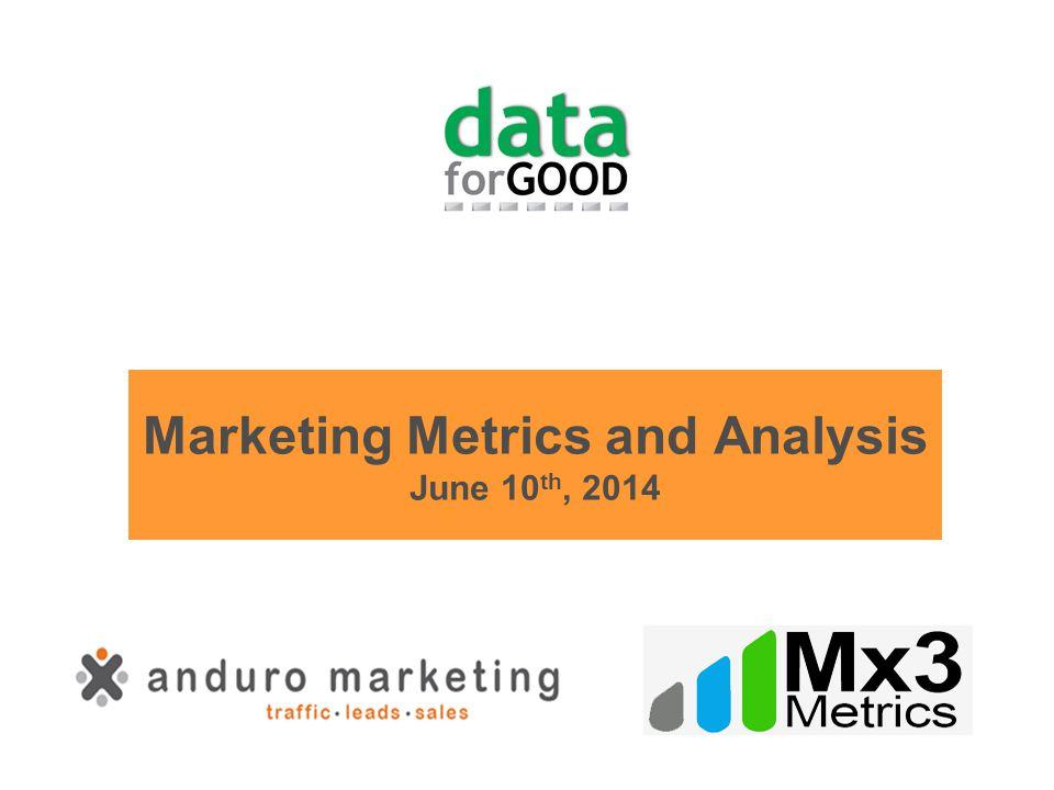 Marketing Metrics and Analysis June 10 th, 2014