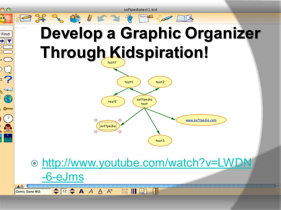 Develop a Graphic Organizer Through Kidspiration.