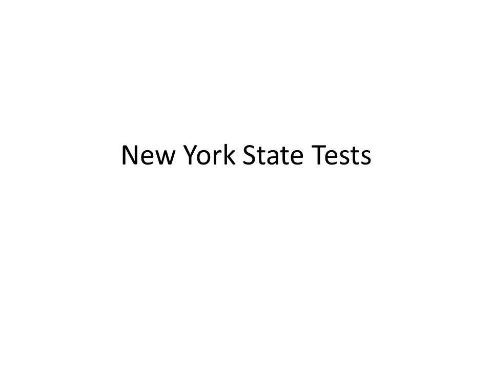 New York State Tests
