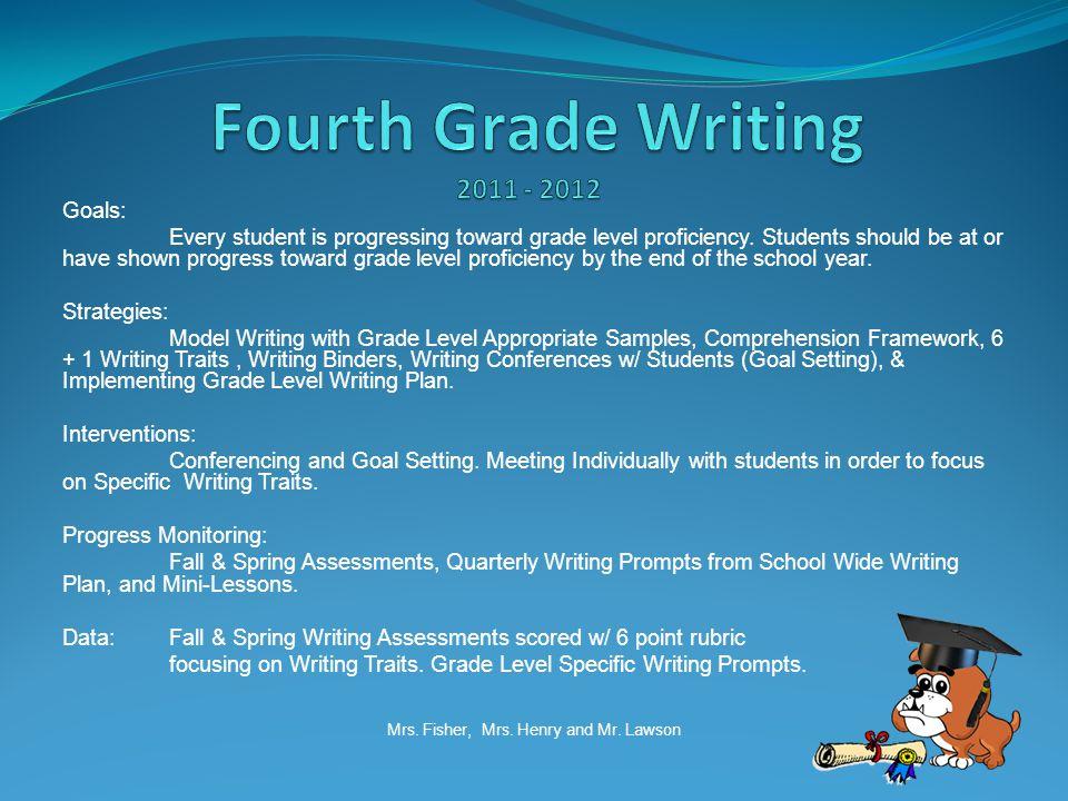 Goals: Every student is progressing toward grade level proficiency.