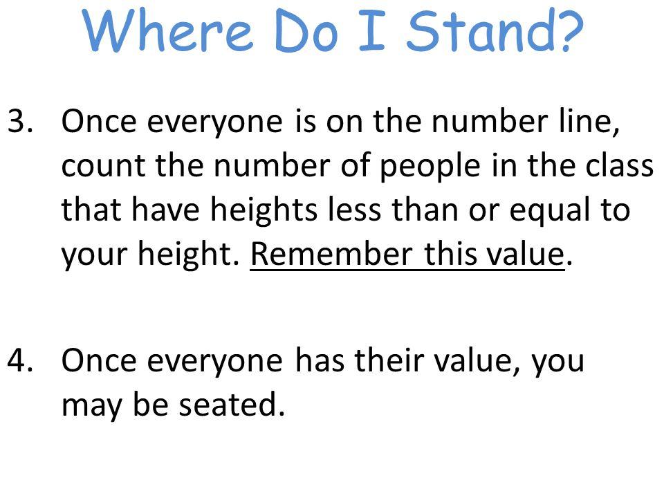 Where Do I Stand.