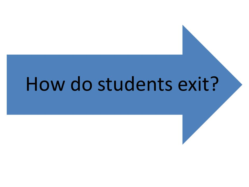 How do students exit?