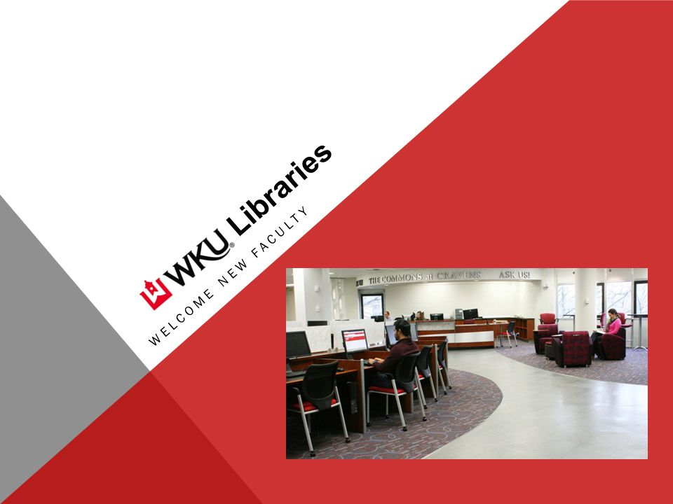 Libraries WELCOME NEW FACULTY