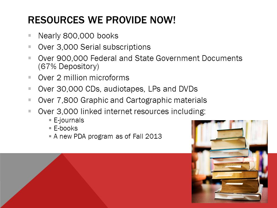 RESOURCES WE PROVIDE NOW.
