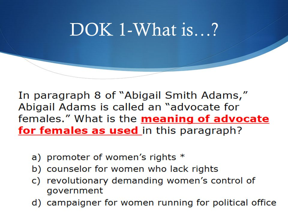 DOK 1-What is…