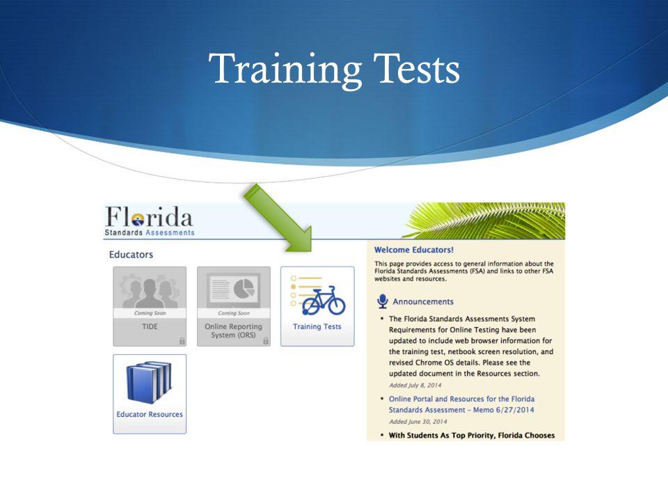Training Tests