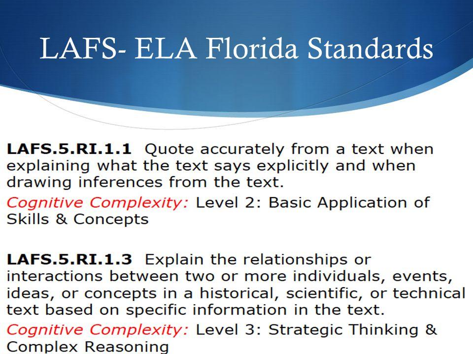 LAFS- ELA Florida Standards