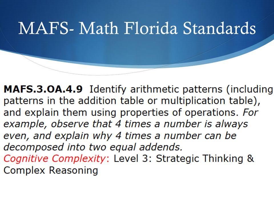 MAFS- Math Florida Standards