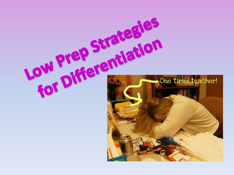 Differentiation is seldom about different outcomes for different kids.
