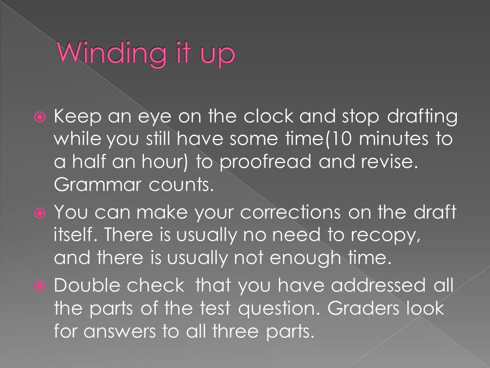  Main things to look at:  Handwriting clarity.