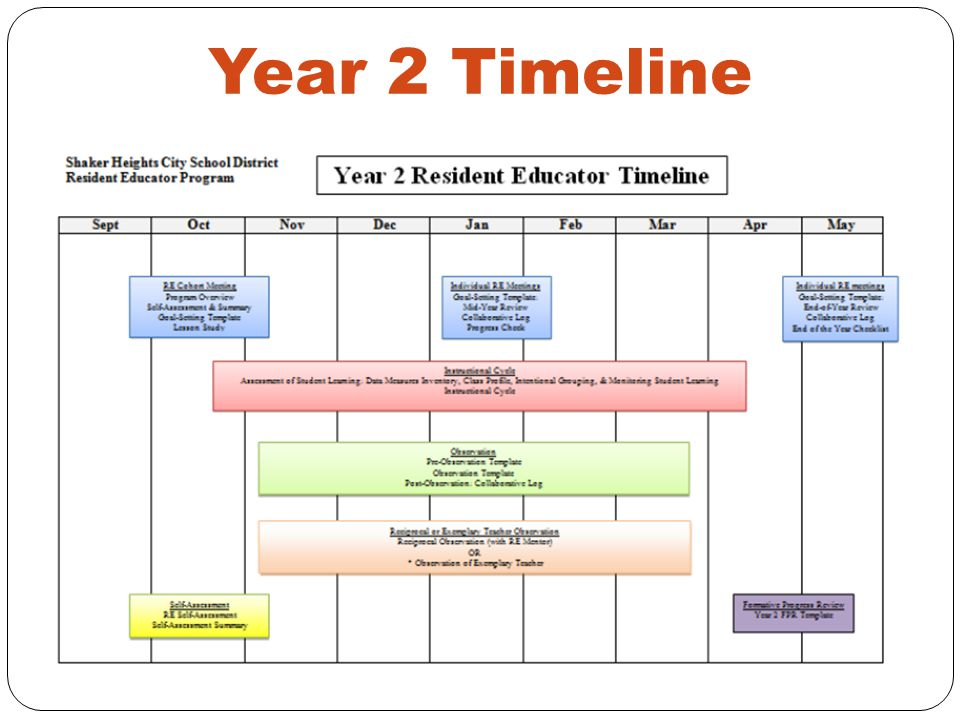 Year 2 Timeline