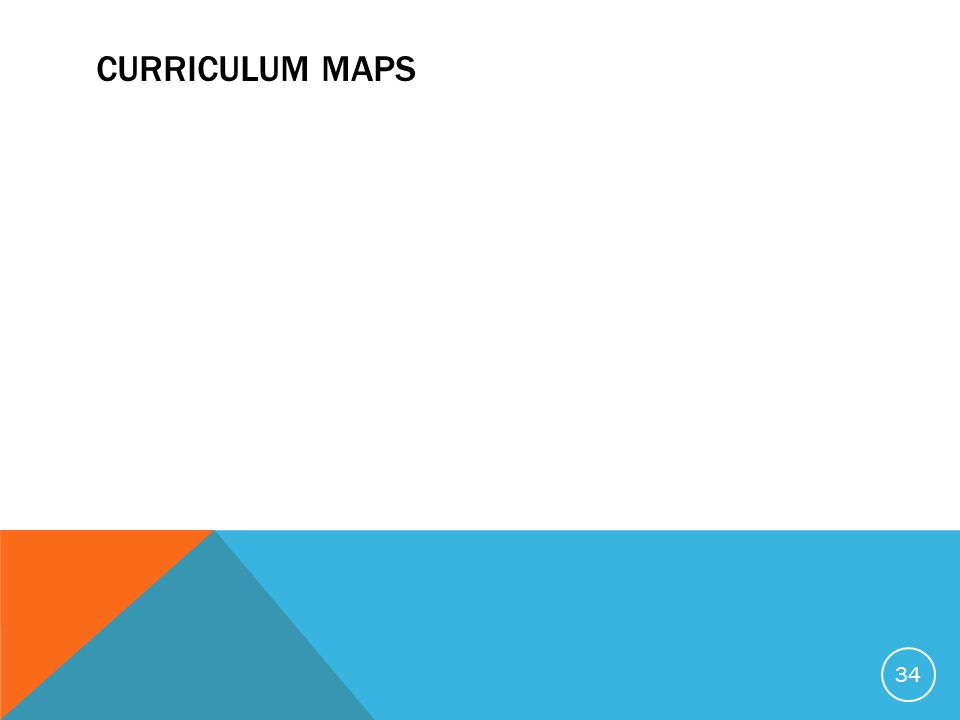 CURRICULUM MAPS 34