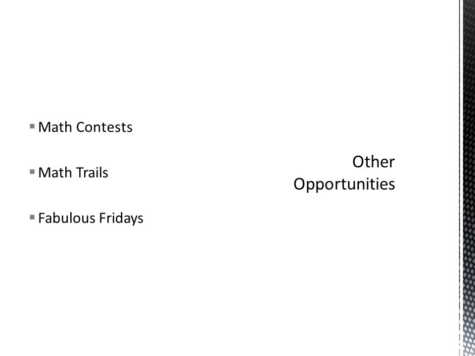  Math Contests  Math Trails  Fabulous Fridays