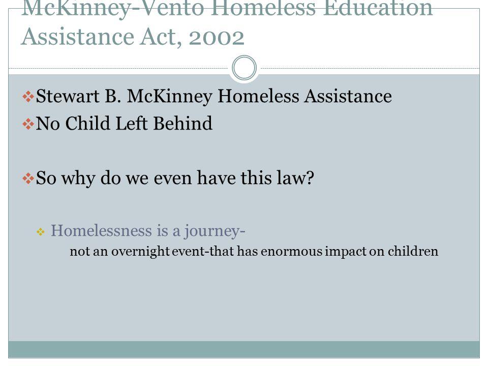 Why McKinney-Vento.