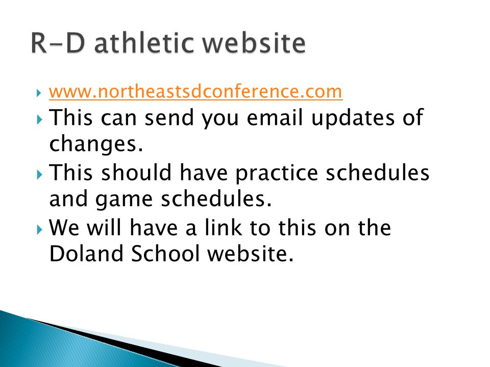  www.northeastsdconference.com www.northeastsdconference.com  This can send you email updates of changes.