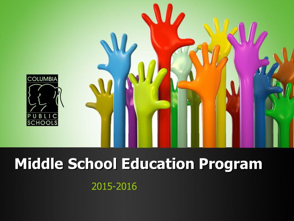 Middle School Education Program 2015-2016