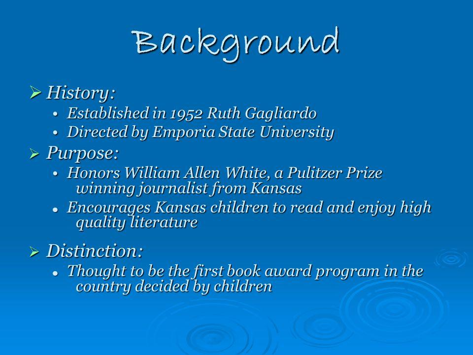 William Allen White Children's Book Award For 3 rd -5 th Grade Students 2012-13