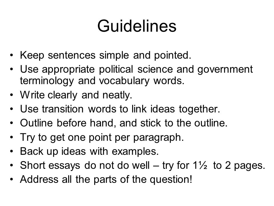ap essay tips actually frq and not essay writing for ap  guidelines keep sentences simple and pointed