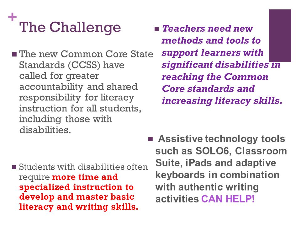 + Why Instruction in Literacy and Writing Matters.