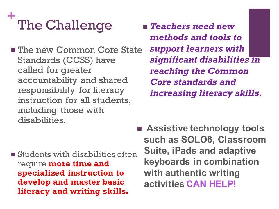 + Resources Digital Book Libraries & Authoring Tools : www.tarheelreader.org www.setbc.org Big Keys Keyboard www.ablenetinc.com www.rjcooper.com AT Tools Classroom Suites by Ablenet Inc.