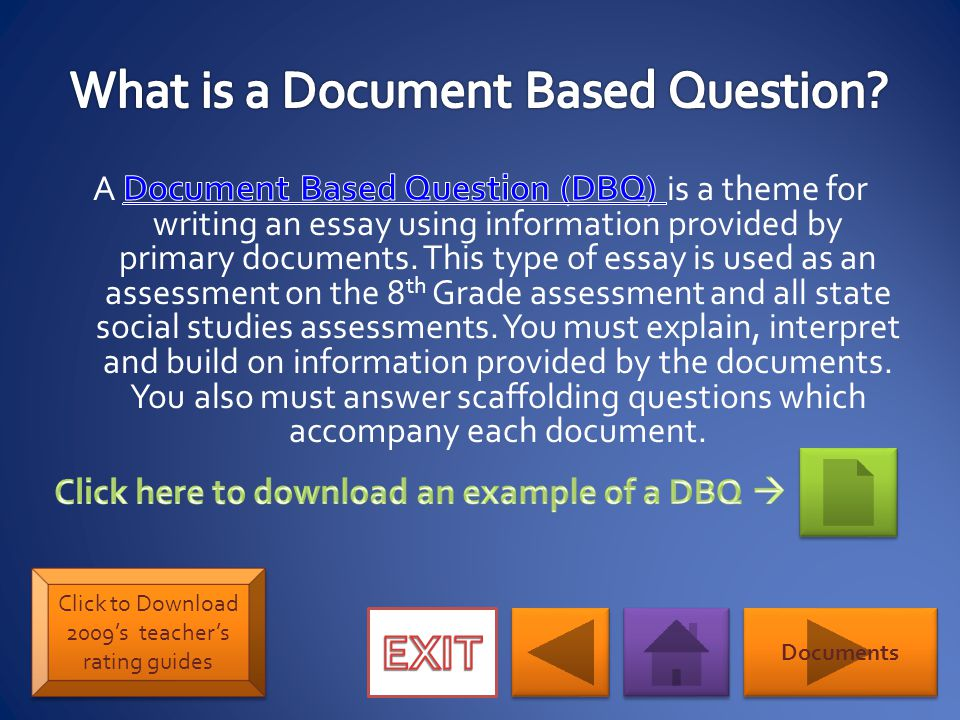 The Thesis Statement should list the historical events/examples you will be discussing.