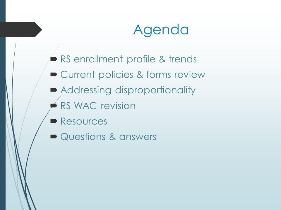 RS Enrollment Profile & Trends