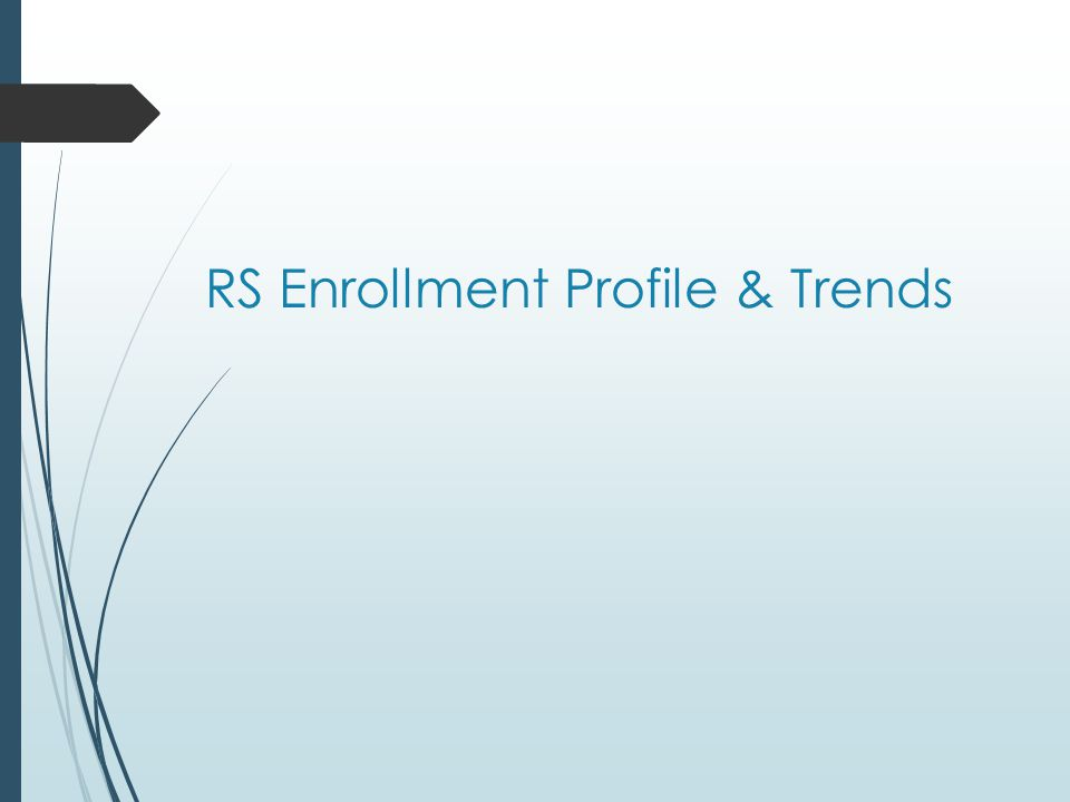 RS Enrollment Profile & Trends
