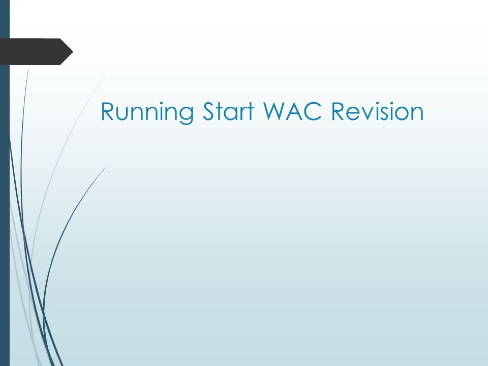 Running Start WAC Revision