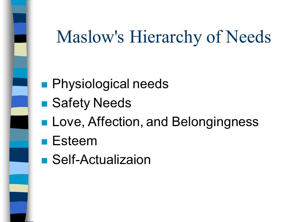 Maslow s Approach n Teach –authenticity –transcend cultural conditioning –discovery of vocation –transcend trifling problems; concentrate on serious problems of life –to make informed choices