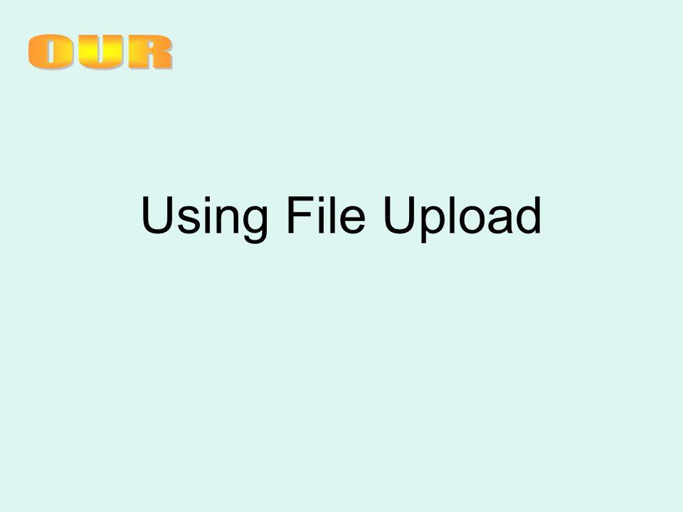 Using File Upload