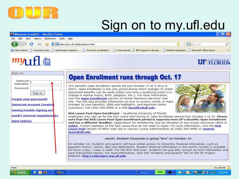 Sign on to my.ufl.edu