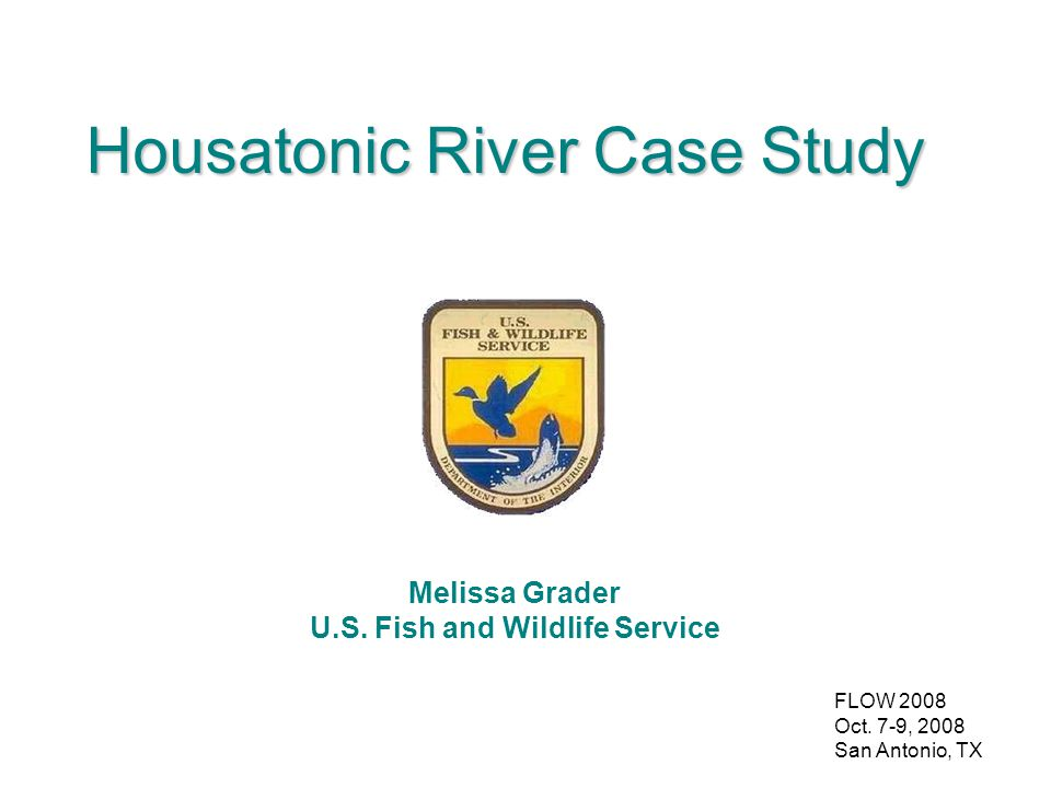 FLOW 2008 Oct. 7-9, 2008 San Antonio, TX Housatonic River Case Study Melissa Grader U.S.
