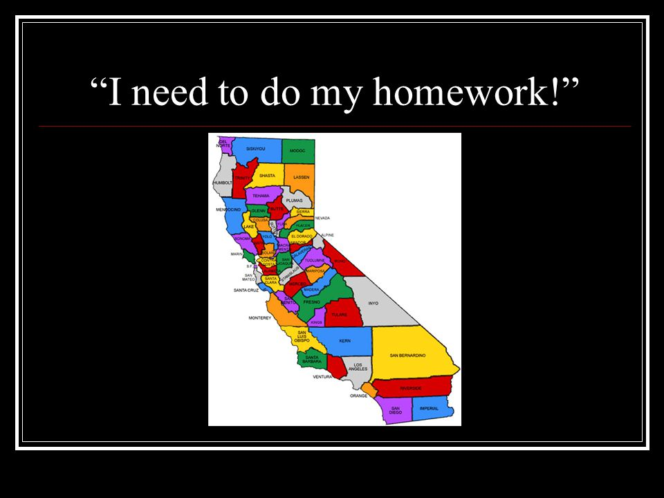 I need to do my homework!