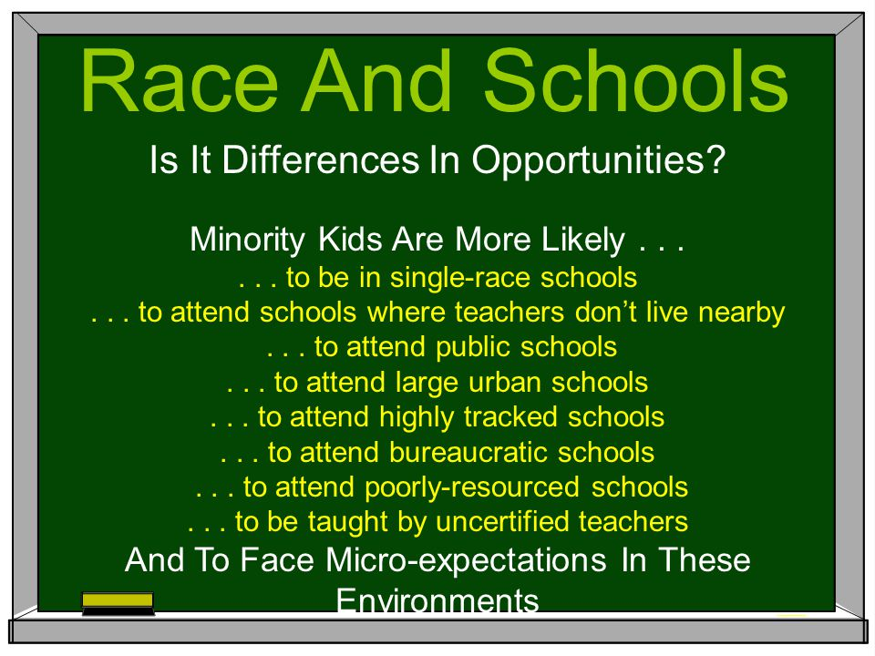 Race And Schools Is It Differences In Opportunities.