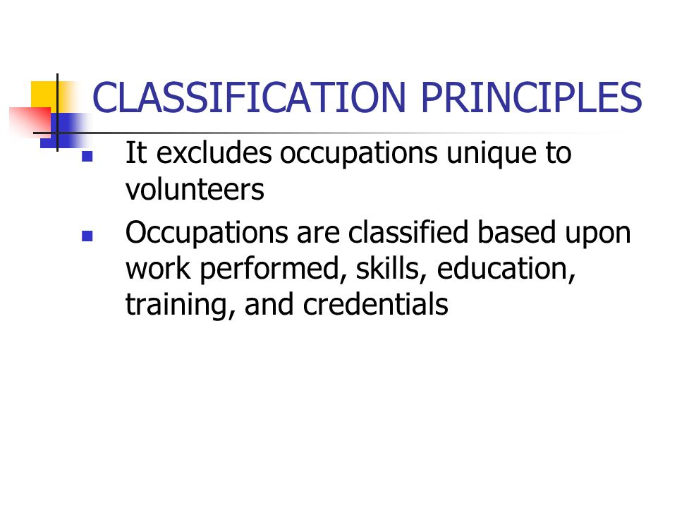 CLASSIFICATION PRINCIPLES Team leaders, lead workers and supervisors of production, sales, and service workers who spend at least 20 percent of their time performing work similar to the workers they supervise are classified with the workers they supervise.