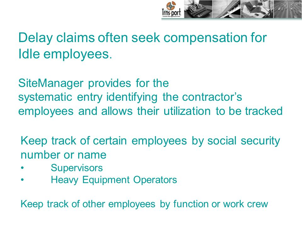 Delay claims often seek compensation for Idle employees.