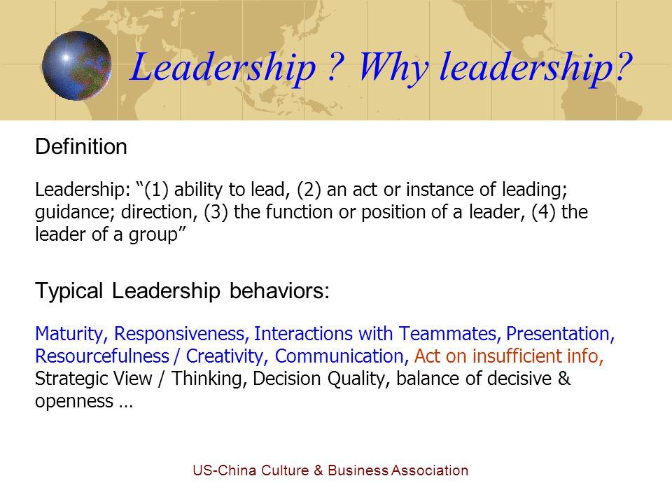 US-China Culture & Business Association Leadership .