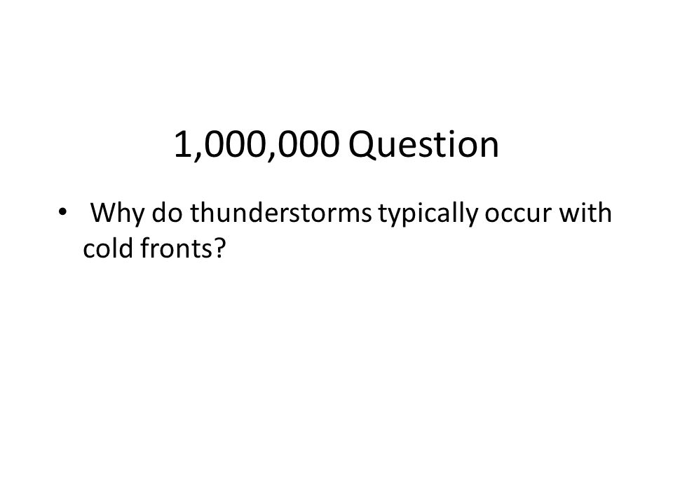 Million Dollar Question Grade Level Topic 11 Fronts
