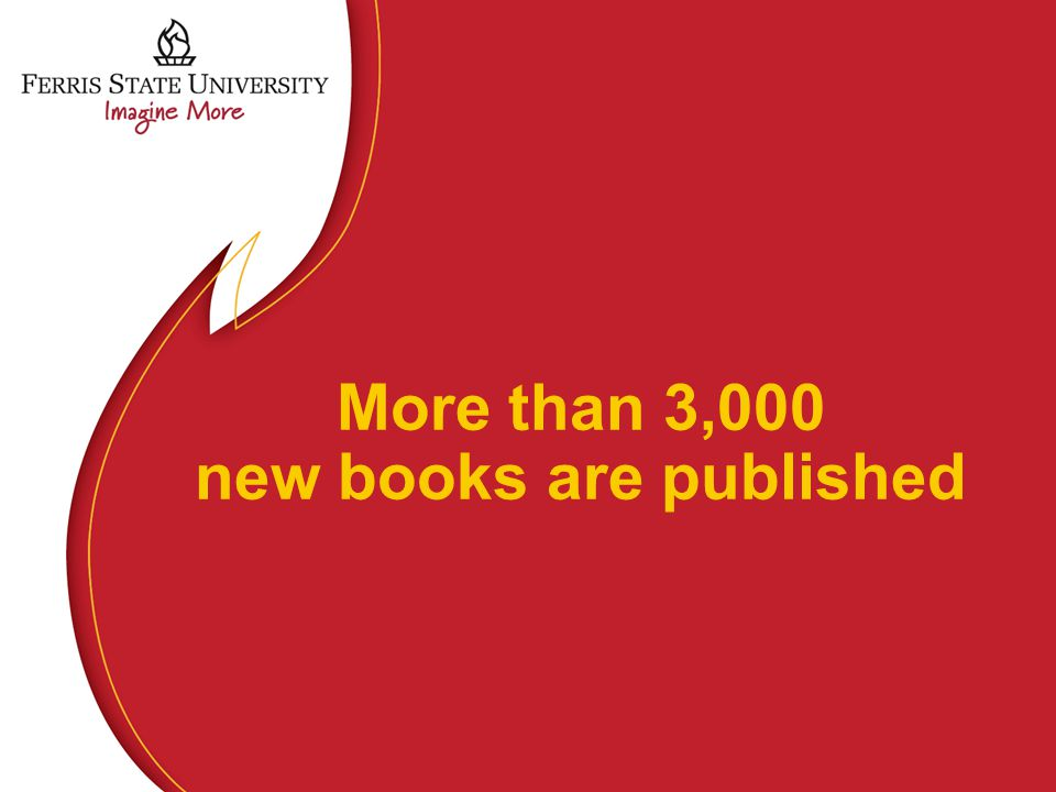 More than 3,000 new books are published