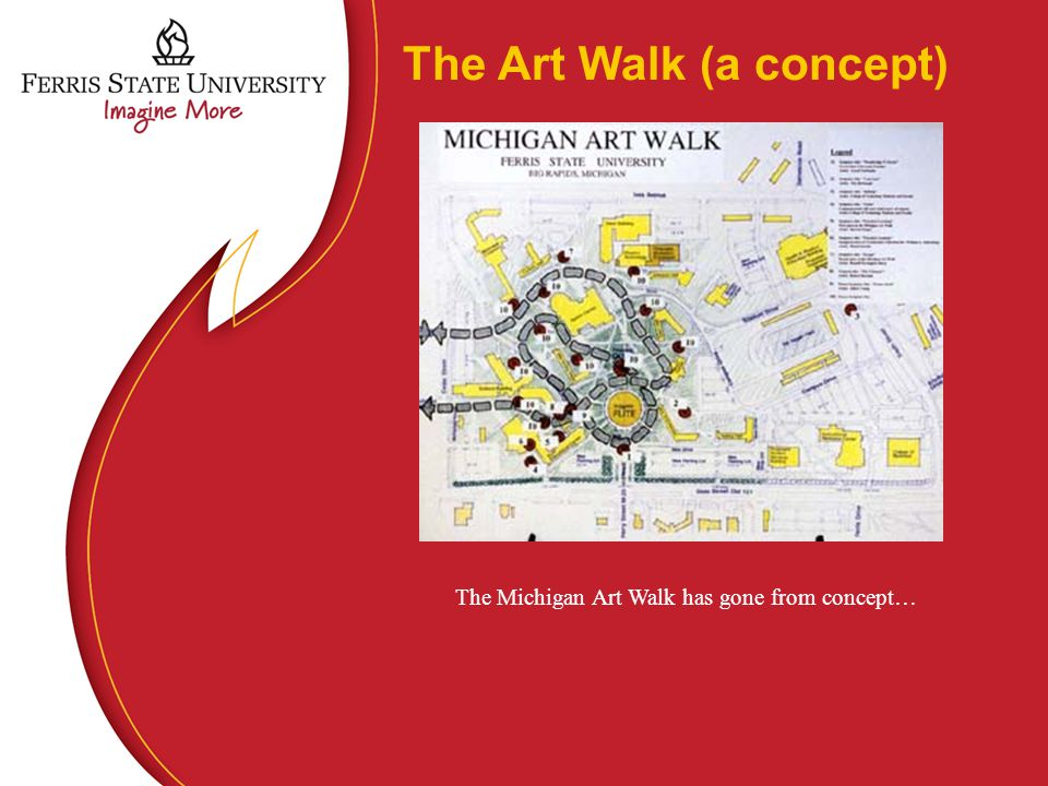 The Art Walk (a concept) The Michigan Art Walk has gone from concept…