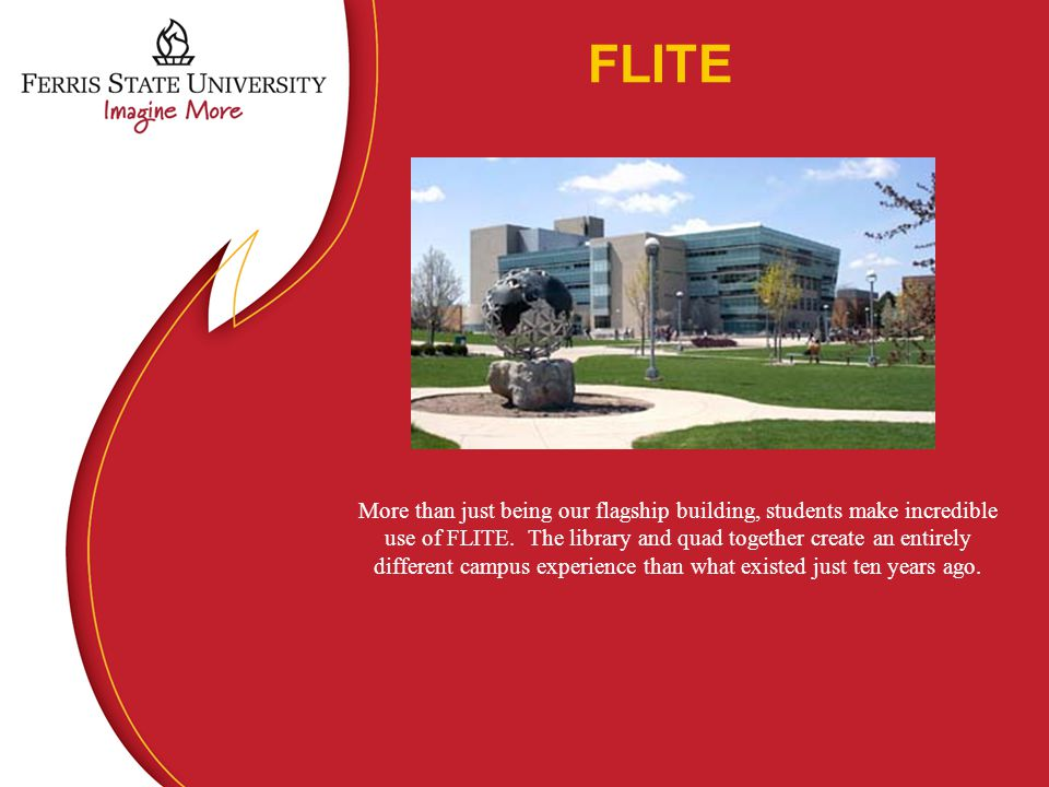 FLITE More than just being our flagship building, students make incredible use of FLITE.