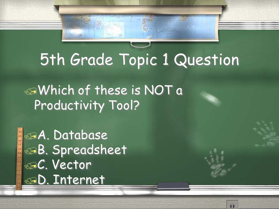 3rd Grade Topic 6 Question / Which of the following means to gather, process and interact with information.