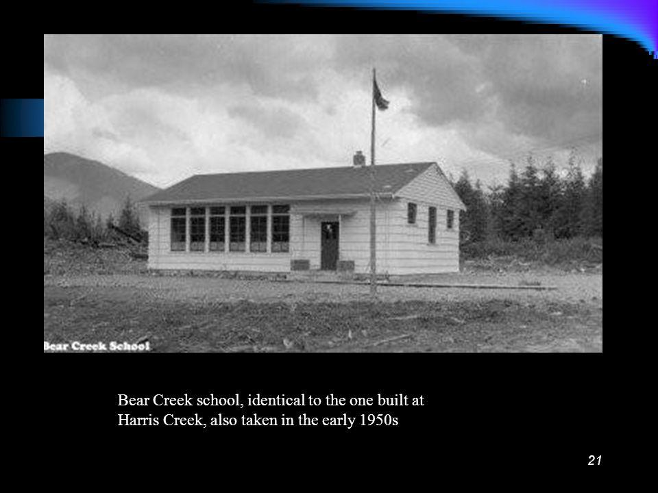 20 Bear Creek Community Hall, in the 1950s