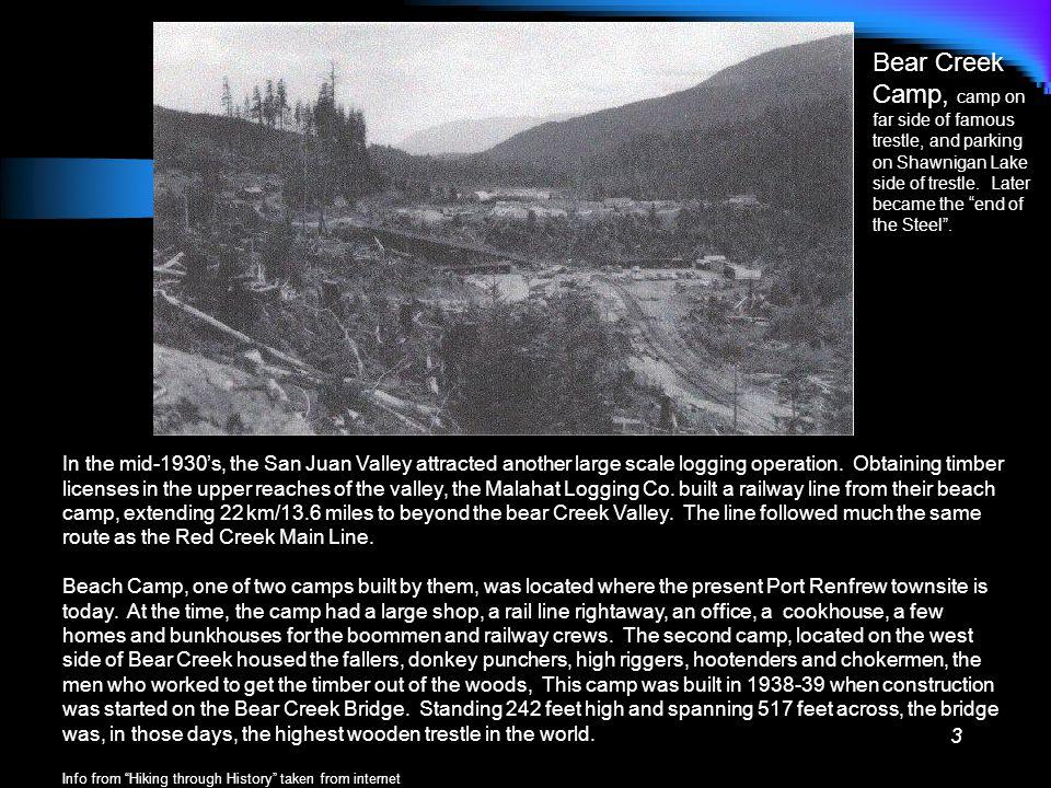 2 The Railroad Bear Creek Line Harris Creek Line