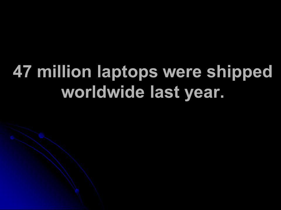 47 million laptops were shipped worldwide last year.