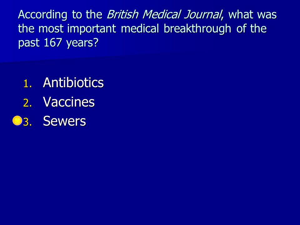 According to the British Medical Journal, what was the most important medical breakthrough of the past 167 years.