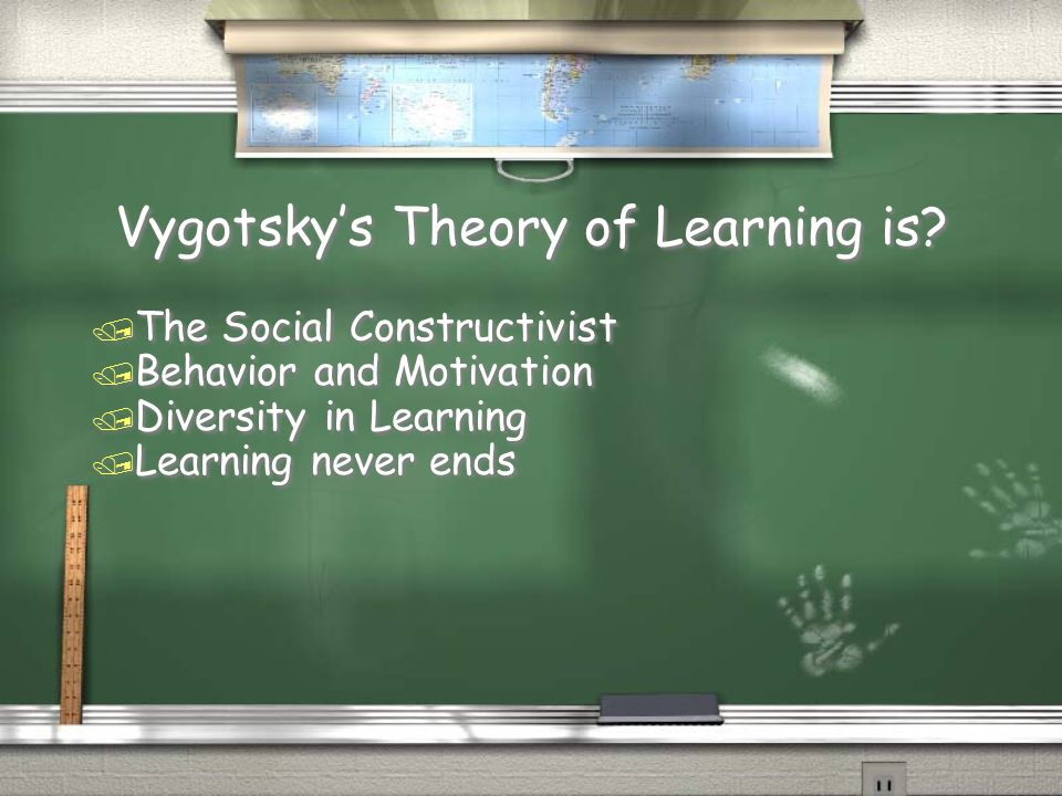 Vygotsky's Theory of Learning is.