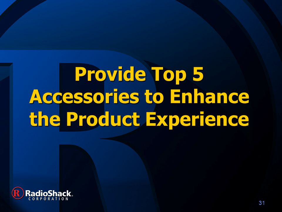 31 Provide Top 5 Accessories to Enhance the Product Experience
