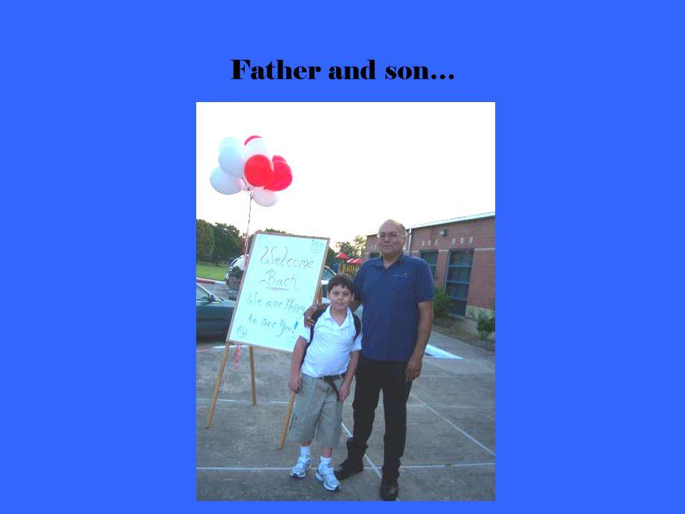 First Grade Old Timers meet their first grade Teacher