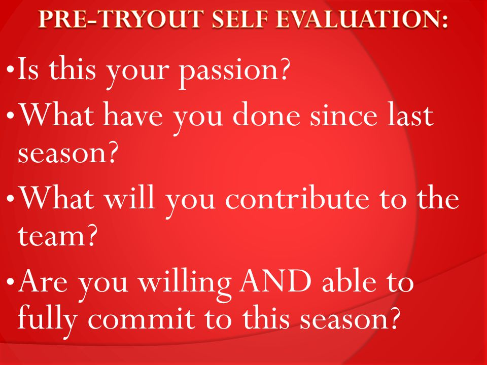 Is this your passion. What have you done since last season.